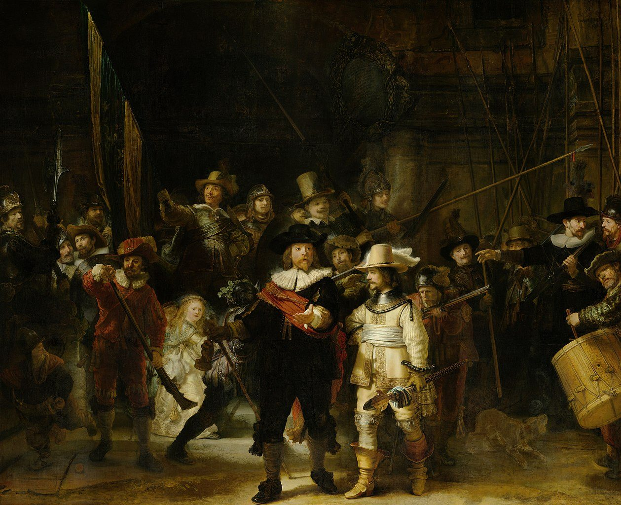 Historical records: The Night Watch, 1642, on display at the Rijksmuseum was one of Rembrandt van Rijn's most famous paintings