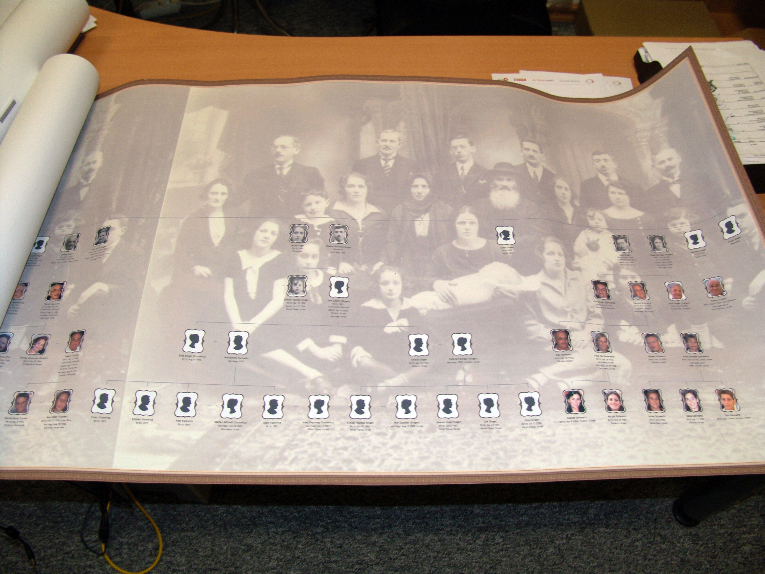 Example of a chart with family photo in the background (Click to enlarge)