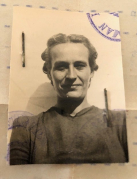 Lithuanian grandmother, Stefanija Velickaite, from her refugee papers.