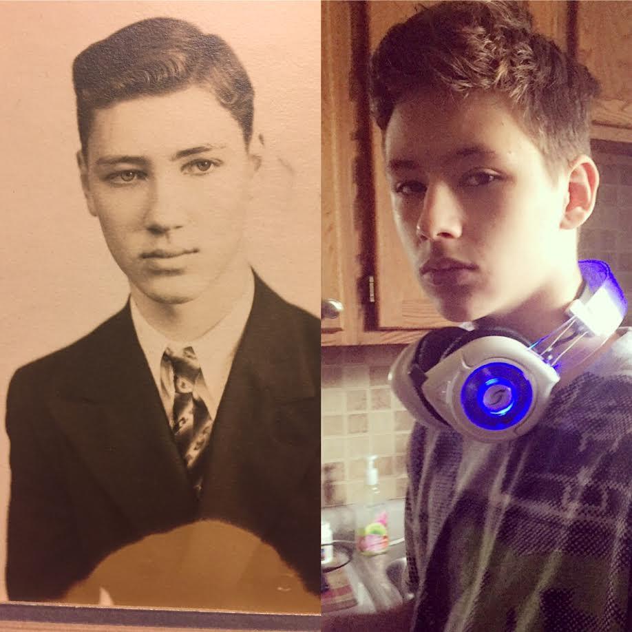 Wilbur Weigert (esquerda) e seu neto Bailey  fotos enviadas por Amanda  Weigert  6b4d56287e019