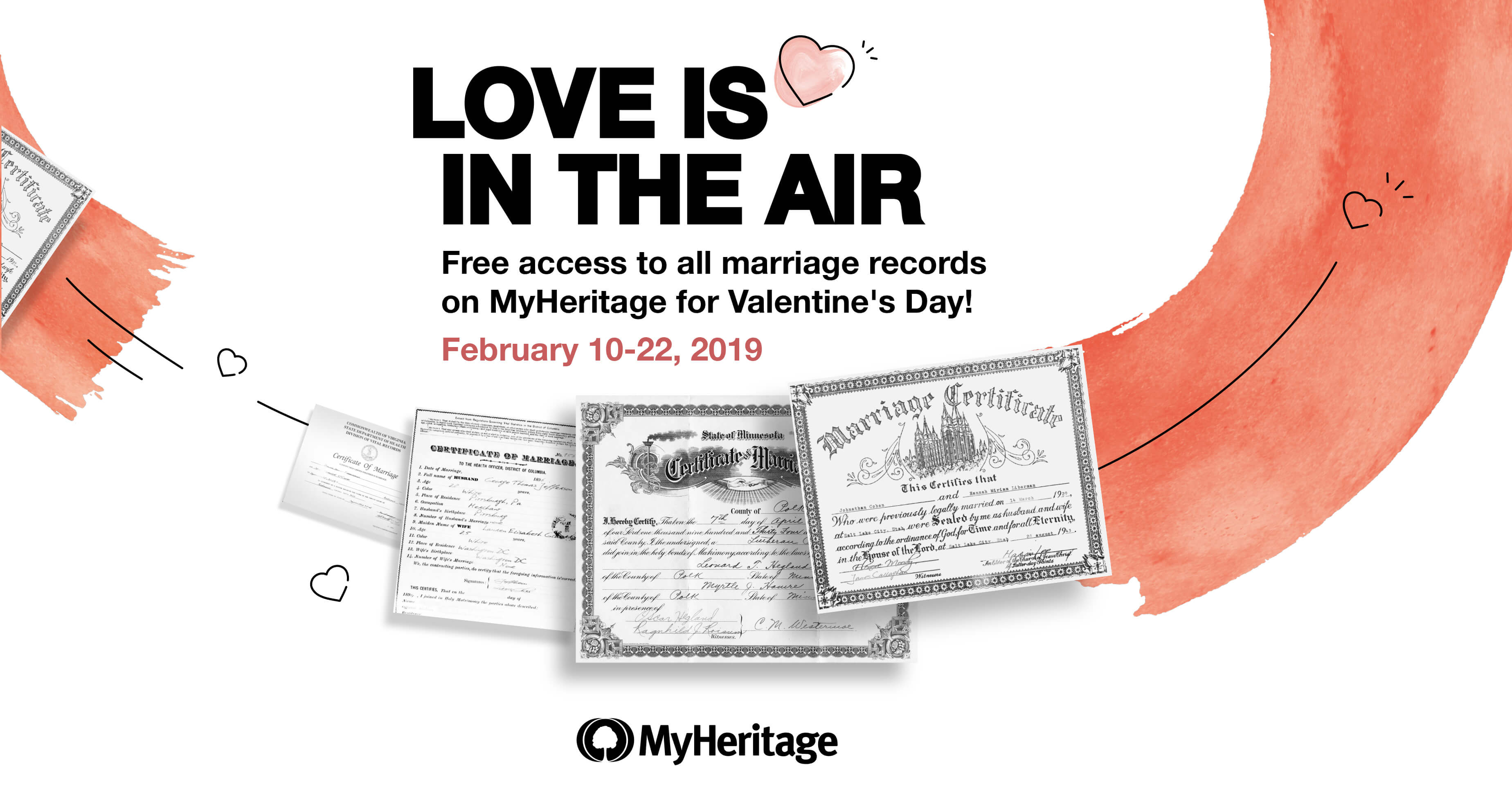 Free Marriage Records for Valentine's Day! - MyHeritage Blog