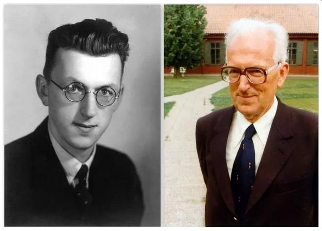 Inge Bergenek, links als junger Mann und rechts im späten Alter.