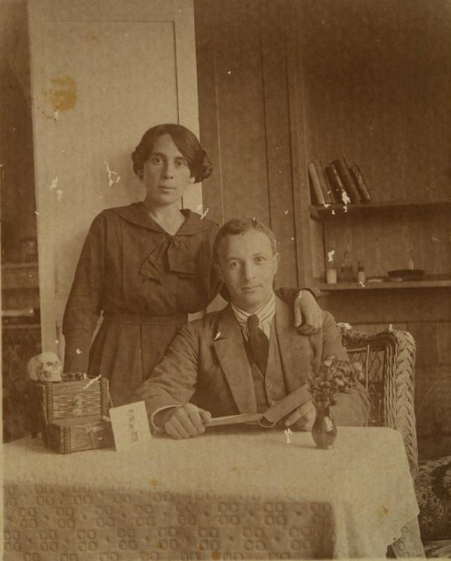 Arie Leib Chwojnik and his wife Ettia in Switzerland, circa 1920.