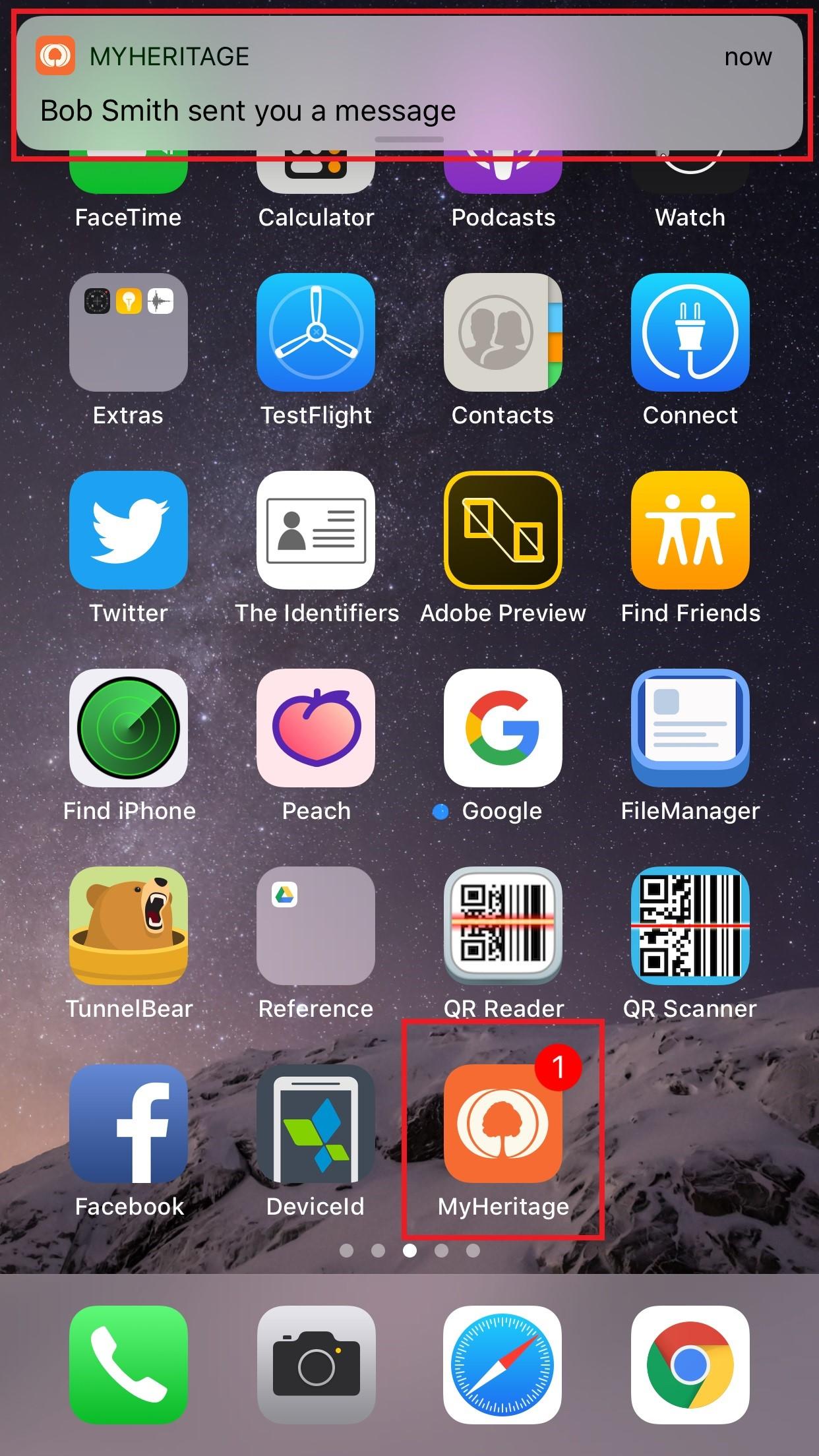 Varsel om en ny melding på hjemmeskjermen på en smarttelefon