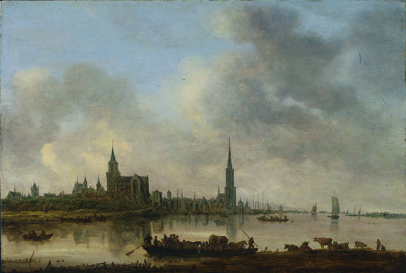 View of Emmerich, a landscape painting by Jan van Goyen, 1645, [Credit: Cleveland Museum of Art]
