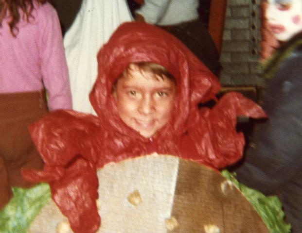 Tina's cousin Michael on Halloween