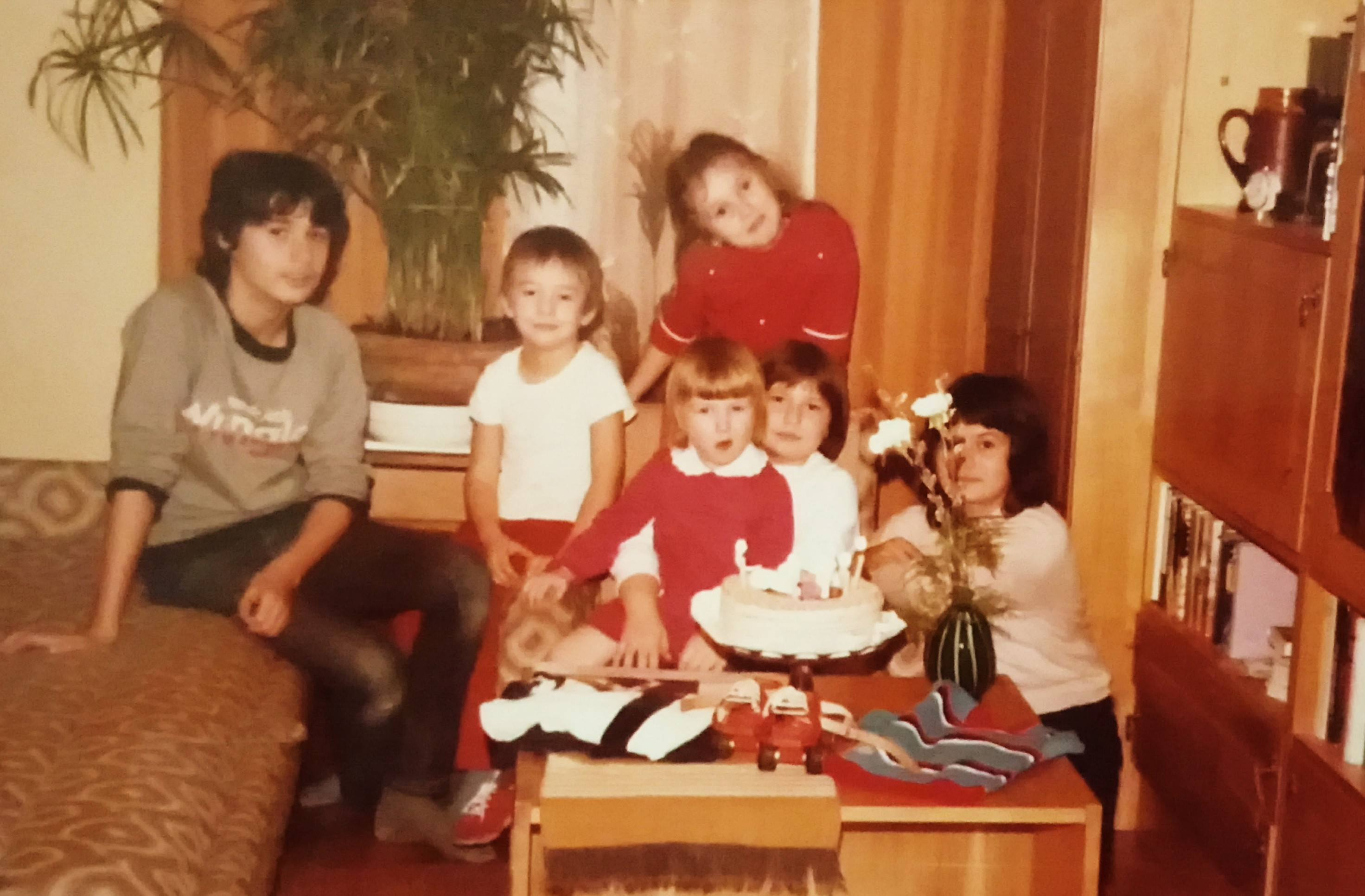 Judit and her cousins in the mid-1980's