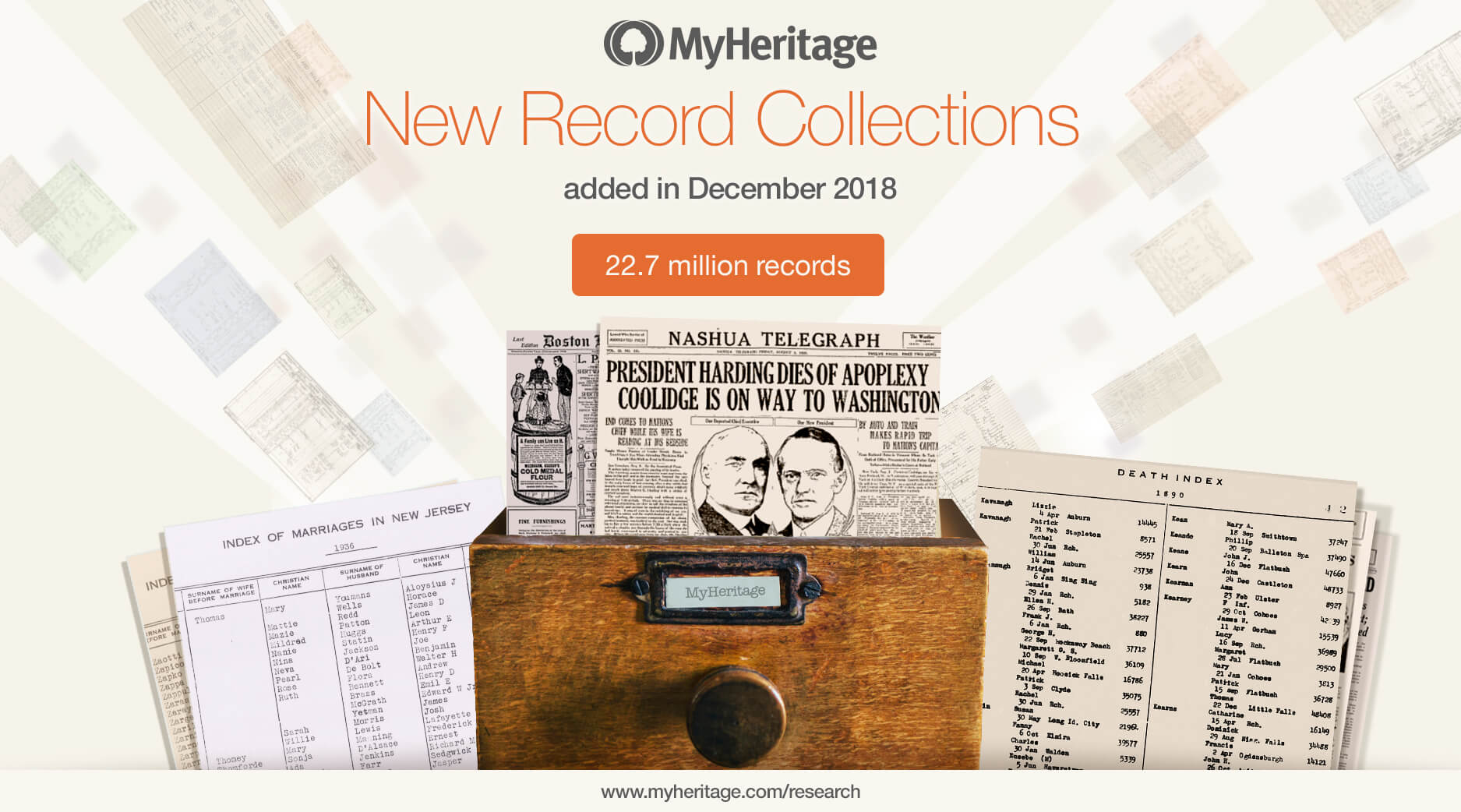 New Historical Records Added in December 2018