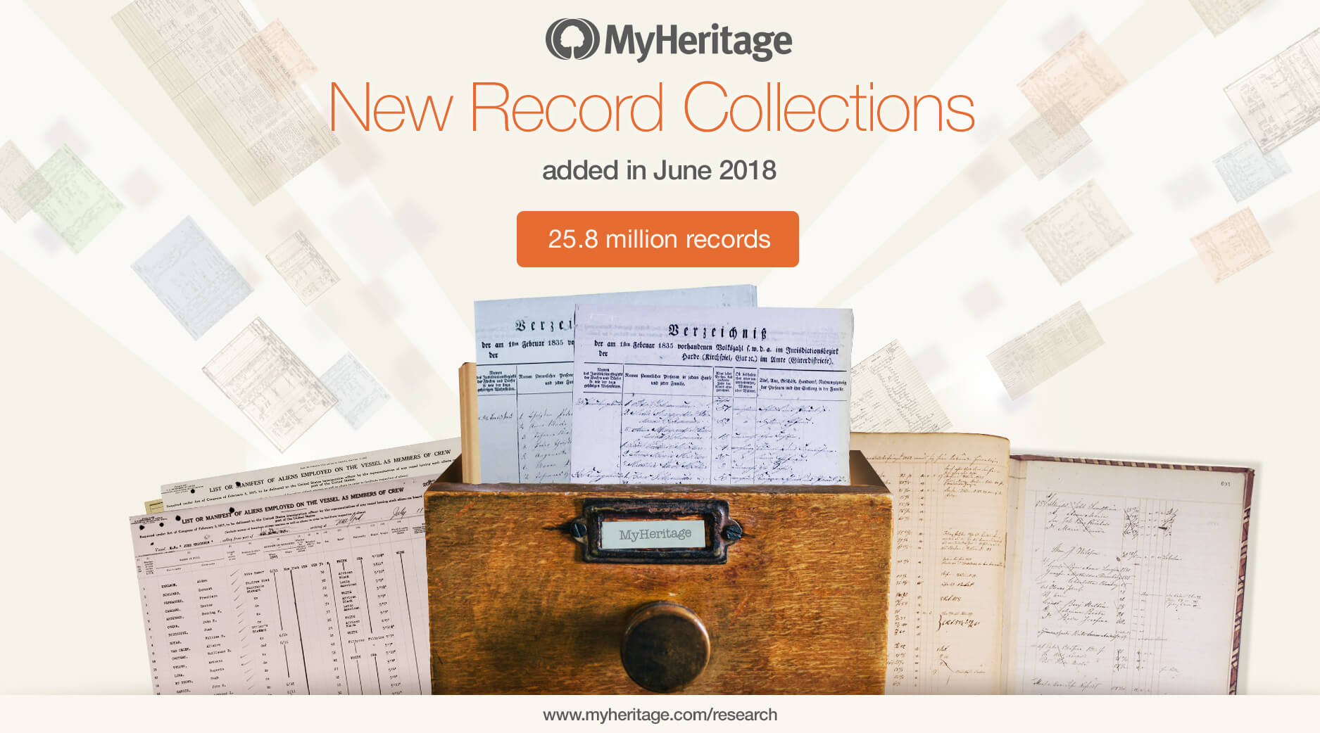 New Historical Records Added in June 2018