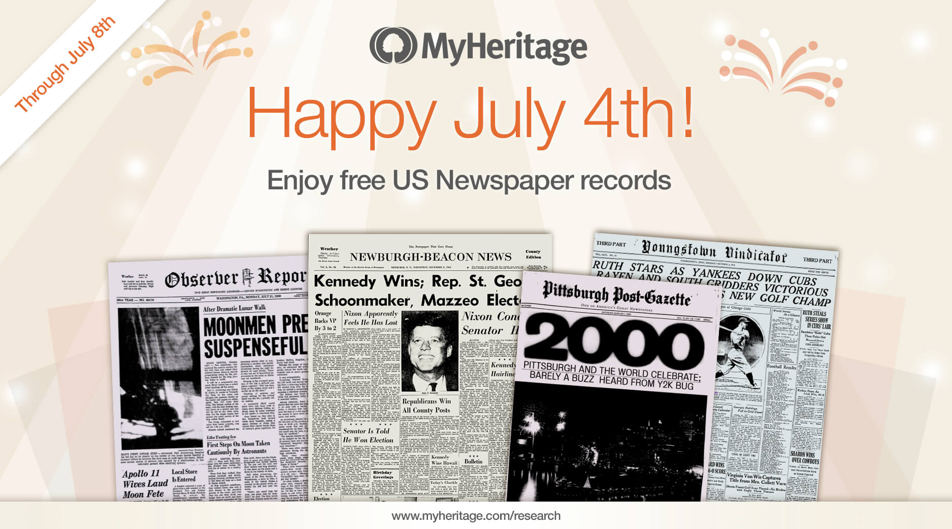Happy July 4th: Enjoy Free Access to U.S. Newspapers