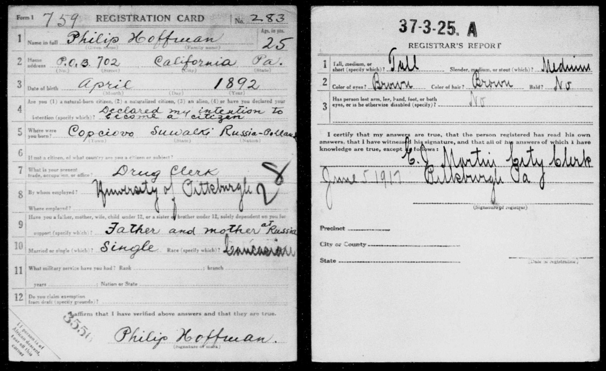 philip_hoffman_united_states_world_war_i_draft_registrations_1917_1918_myheritage