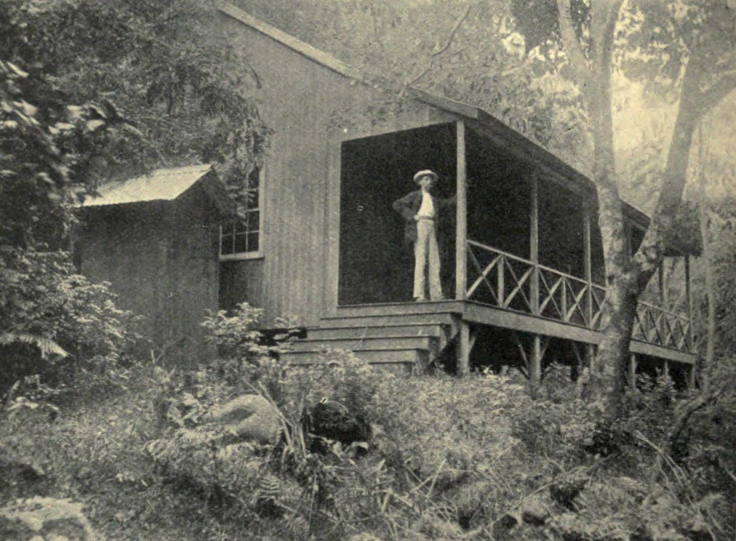 Clement Lindley Wragge at the Governor's Retreat in the Upper Fautaua Gorge