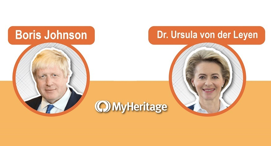 MyHeritage Reveals: Boris Johnson Is Related to the New EU President