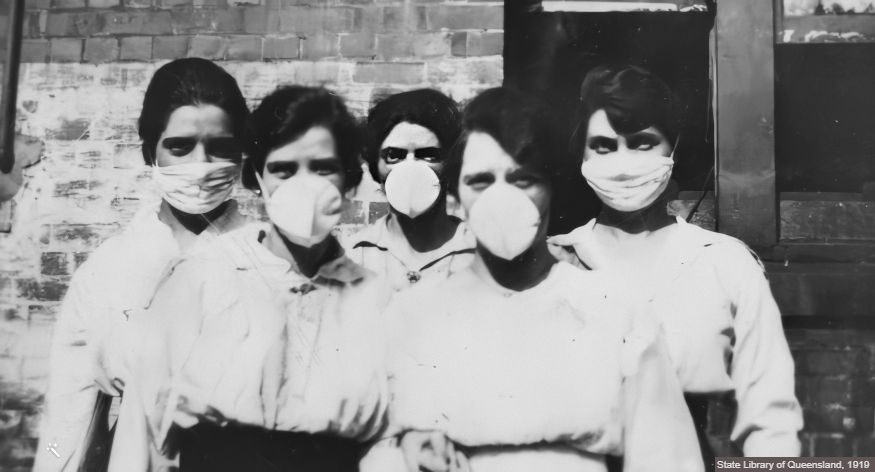 Unmasking Pandemic Masks, Then and Now