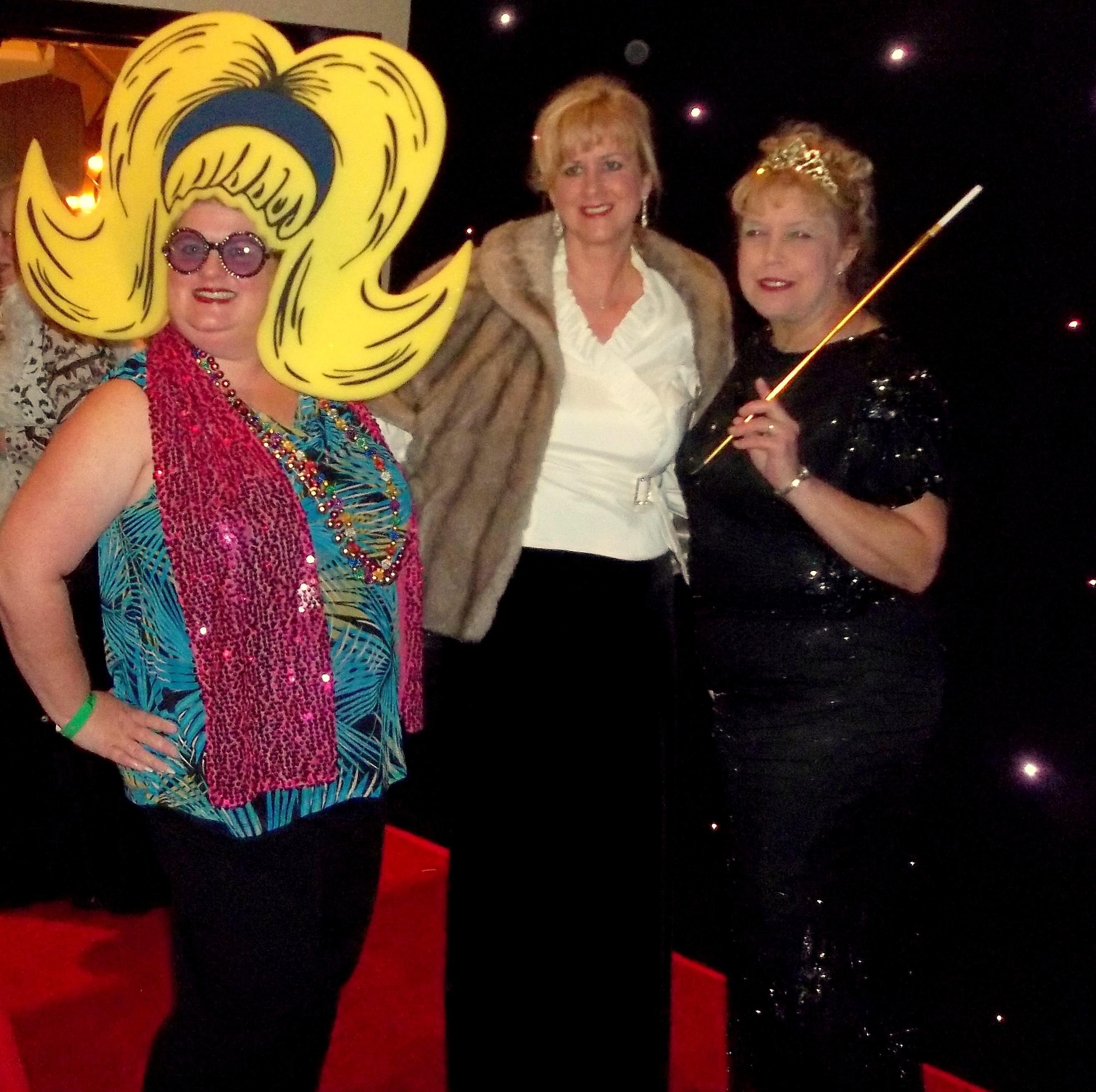"""The red carpet was rolled out for """"celebrities"""" (from left) Amy Coffin, Elizabeth O'Neal and Sheri Fenley."""