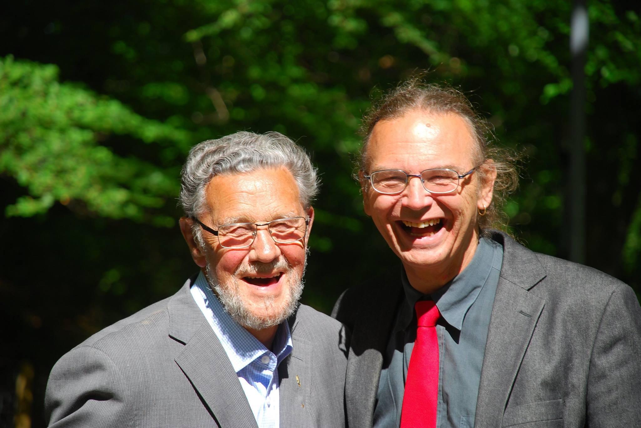 Torsten Simander with his son Stefan